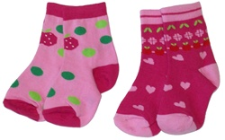 Nowali Hearts and Dots Ankle Socks