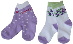 Nowali Dots and Flowers Crew Socks