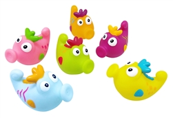 BRIGHT and FUN Set of 6 Baby and Toddler Seahorse Bath Squirter Toys
