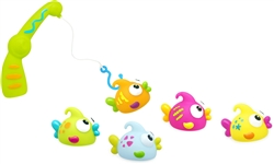 BRIGHT and FUN Set of 6 Baby and Toddler Bath Fishing Squirter Toys