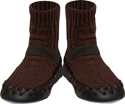 Nowali cable knit moccasins