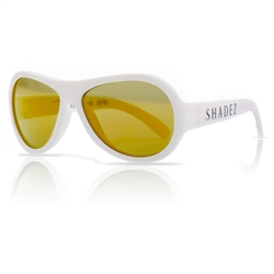 SHADEZ Kids Flex Frame Aviator Sunglasses white