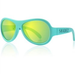 SHADEZ Kids Flex Frame Aviator Sunglasses turq