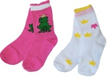 Nowali Frog and Princess Crew Socks